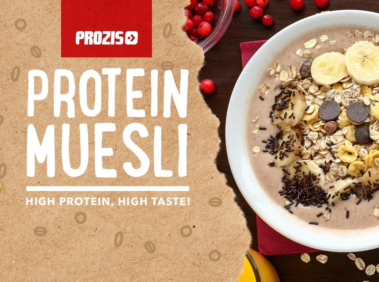 Prozis lança muesli para um pequeno-almoço proteico