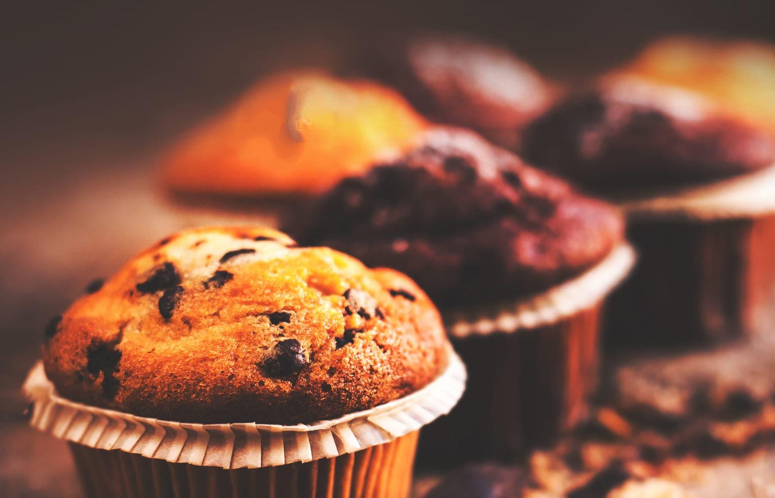 Muffins sem glúten ideais para quem está de dieta