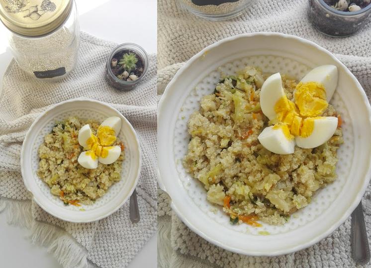 salada quente de quinoa
