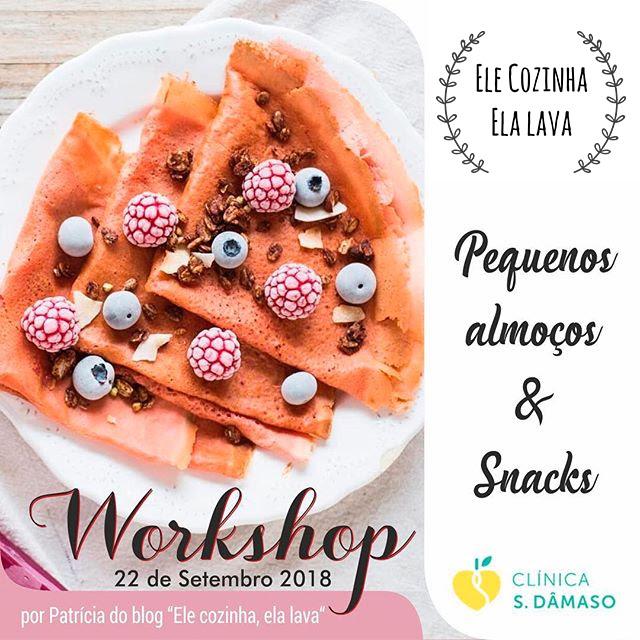 Workshop pequenos-almoços e snacks saudáveis em Guimarães