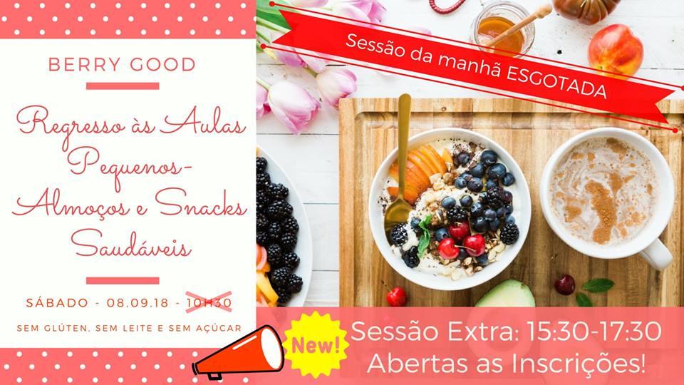 Workshop pequenos-almoços e snacks saudáveis